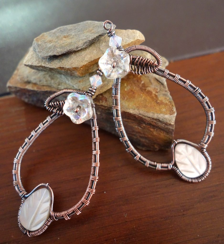 elegant wire wrapped earrings