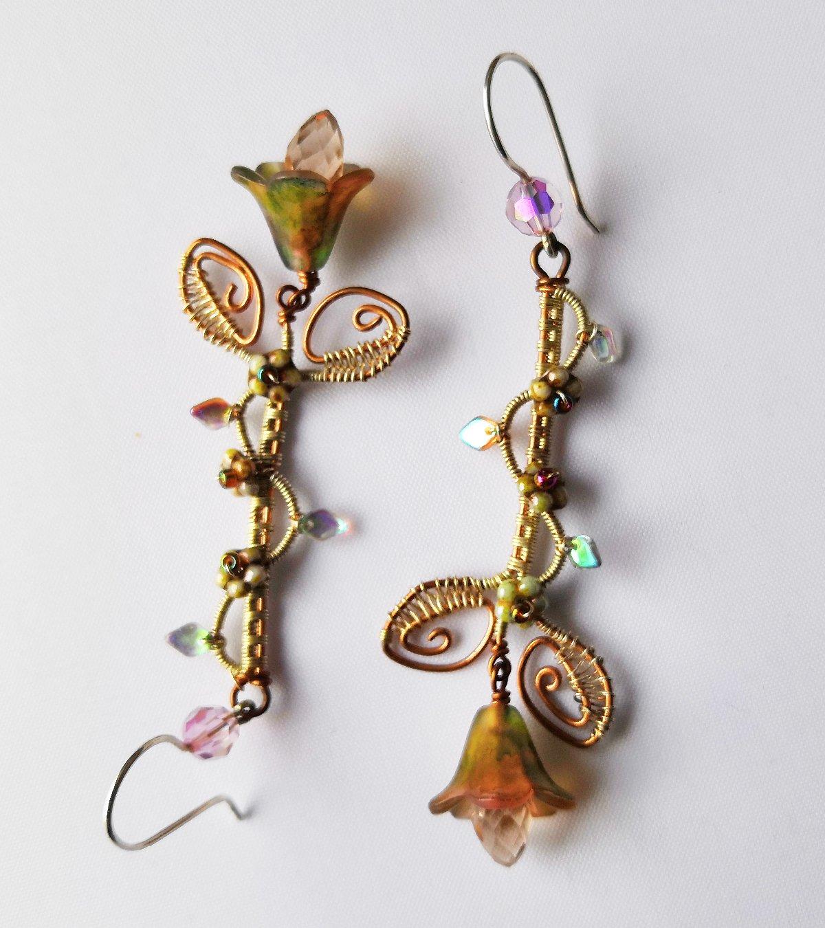Eowyn flower drop earrings