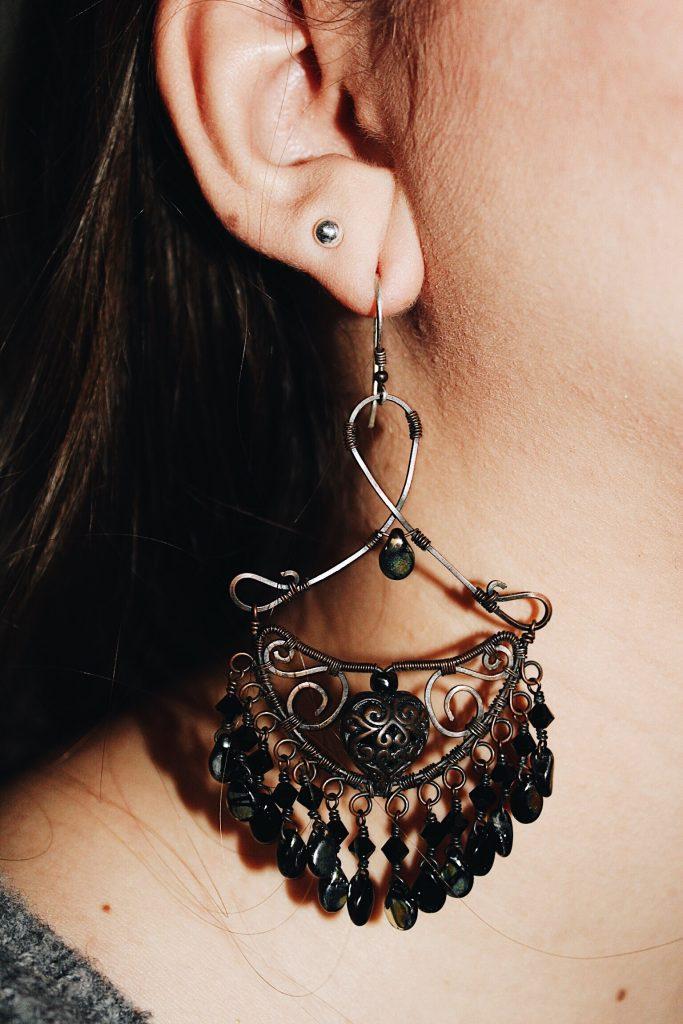 big bold chandelier earrings