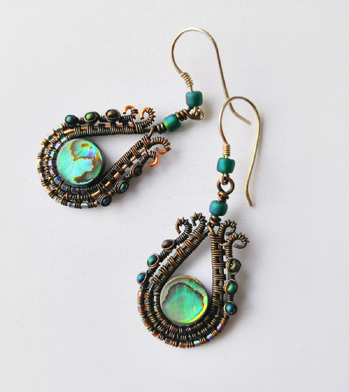 Paisley Blue Celeste Drop Earrings