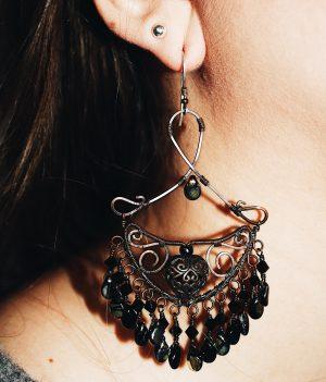 boho large chandelier drop earrings