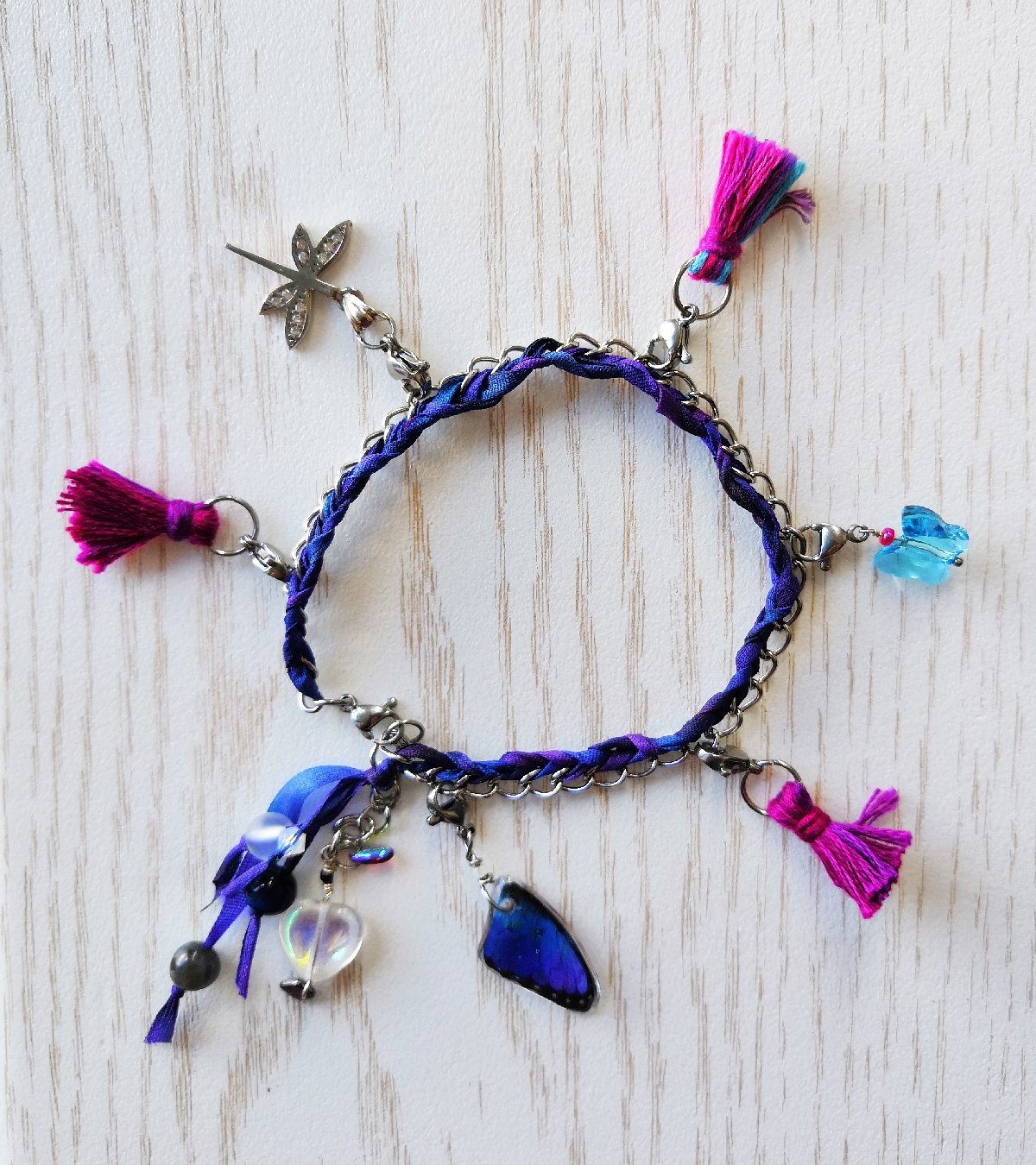 charm bracelet and charms