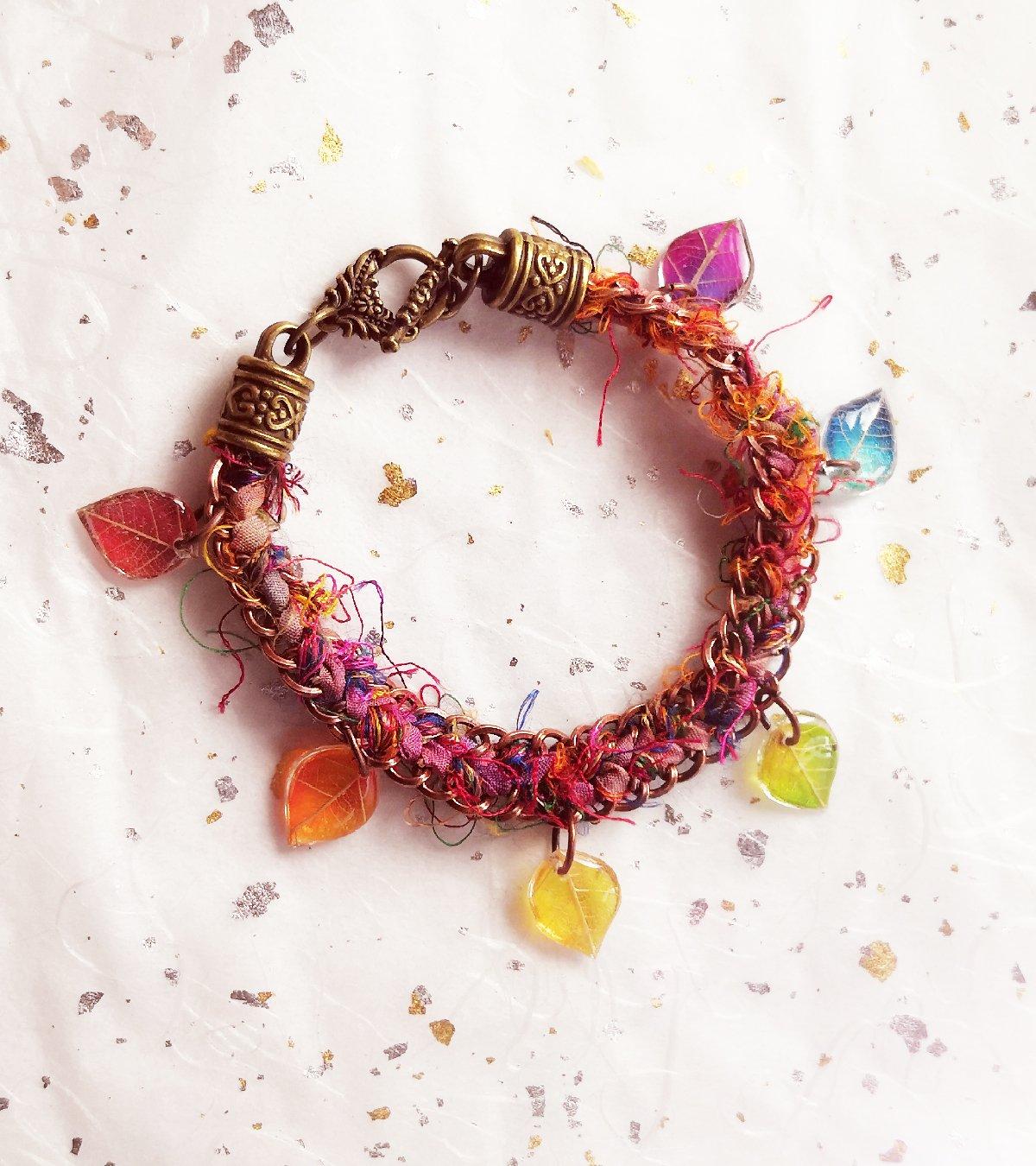 Rainbow sari bracelet