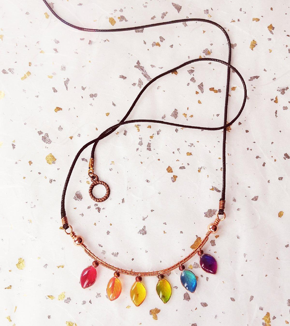 Goldie Rainbow Bar Necklace